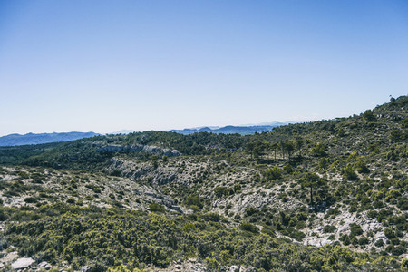 view from the top of a mountain in catalonia