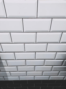 White and black shine brick wall