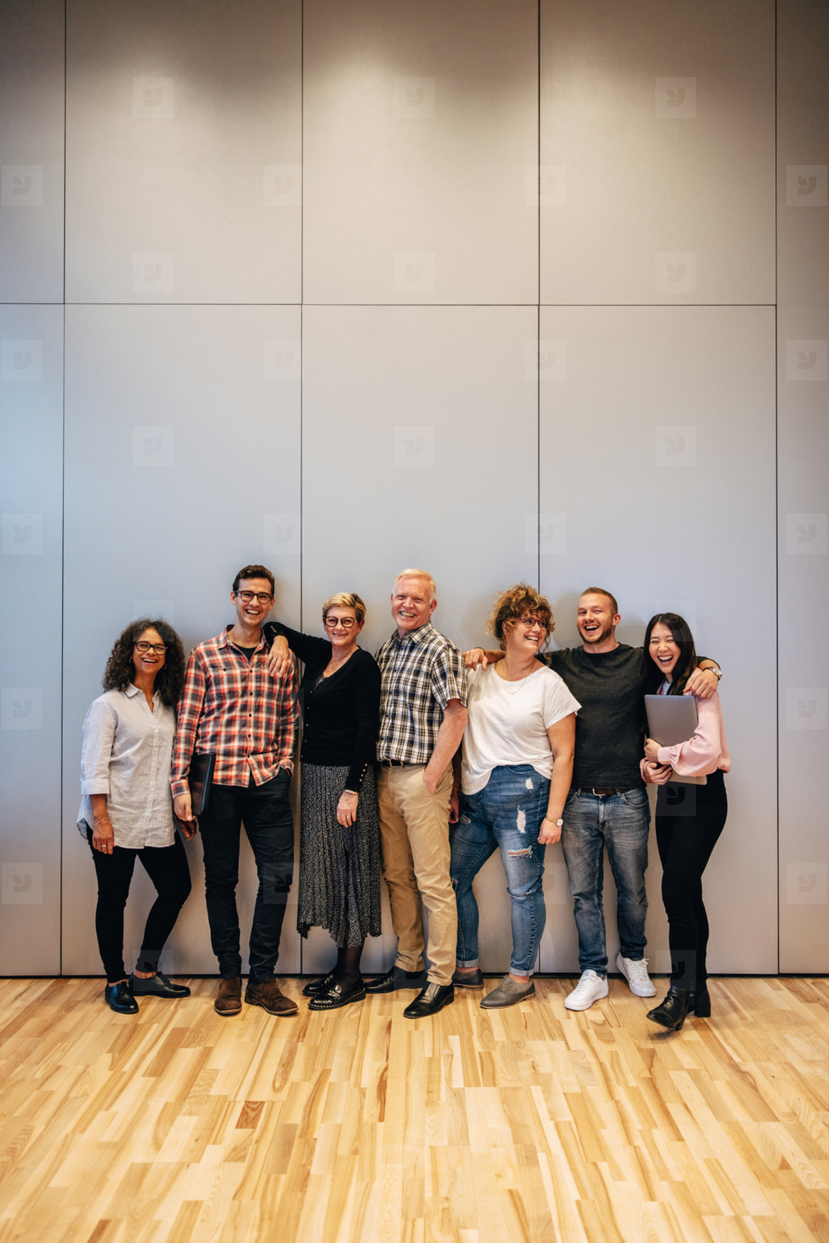 Business team standing together for a portrait