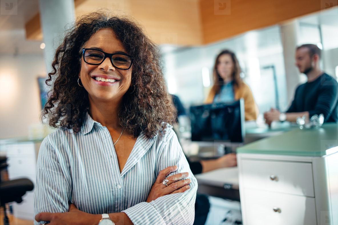 Portrait of a confident municipal office administrator