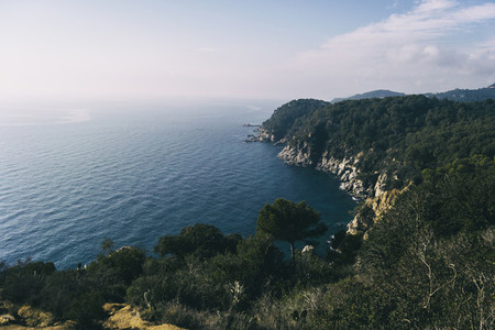 landscape of beaches and coves of the spanish costa brava