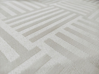 Satin and elegant creamy tablecloth