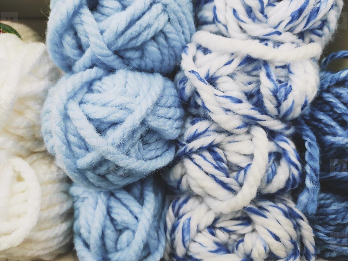 Background full of wool balls