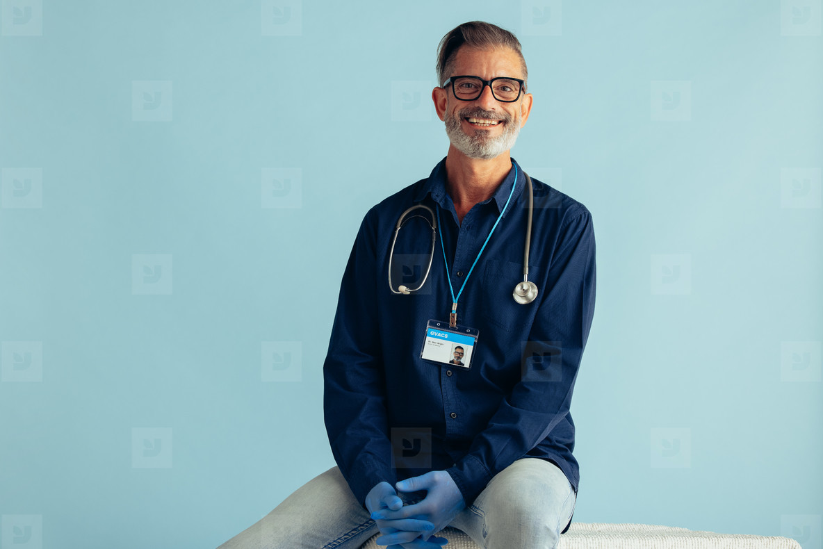 Portrait of a successful male doctor