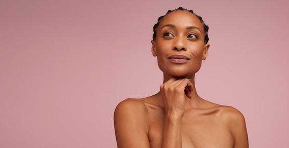 Beautiful woman model with perfect skin