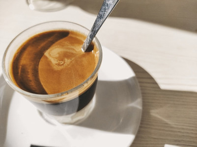 Bonbon coffee served in a sunny terrace