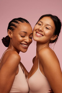 Beautiful women with glowing skin