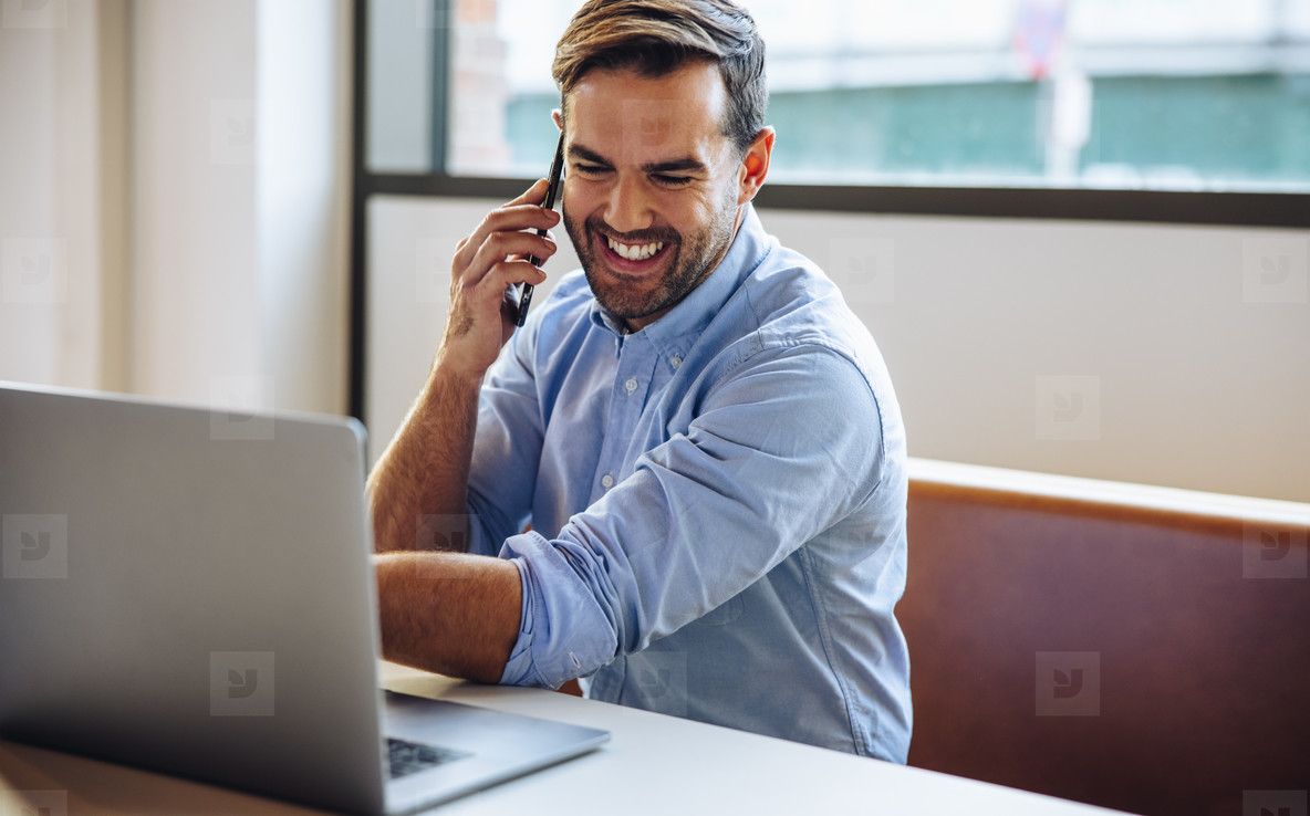Business professional having a conversation on phone