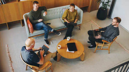 Business people discussing new ideas in meeting