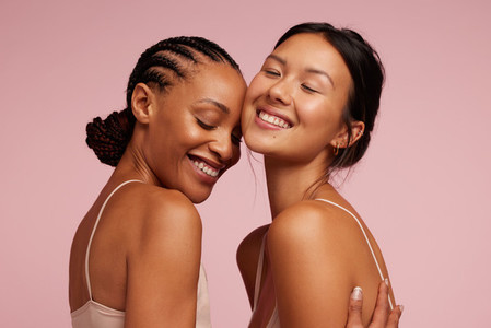 Beautiful women with clean and clear skin