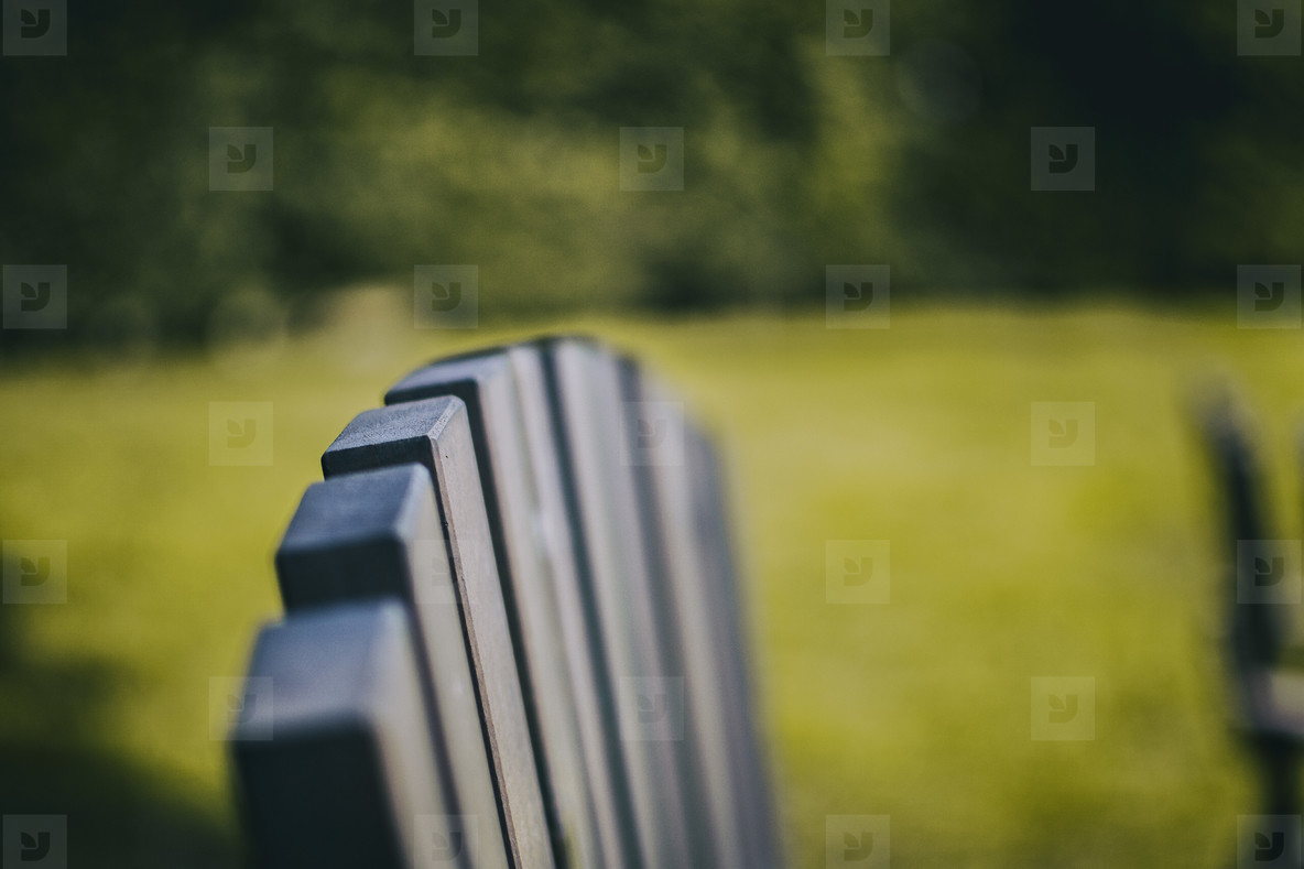 close up wooden slats that form an chair
