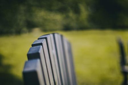 close up wooden slats that form an chair