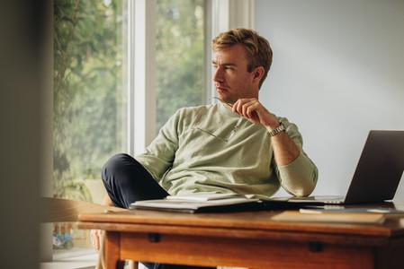Man sitting at home