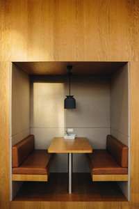 Meeting space in a modern office interior
