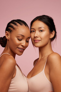 Mixed race females with beautiful skin