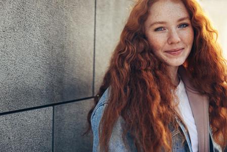 Beautiful girl in college campus