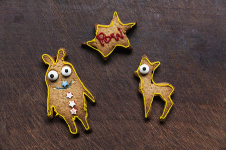 Cute decorated gingerbread cookies