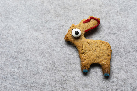 Cute decorated animal gingerbread cookie