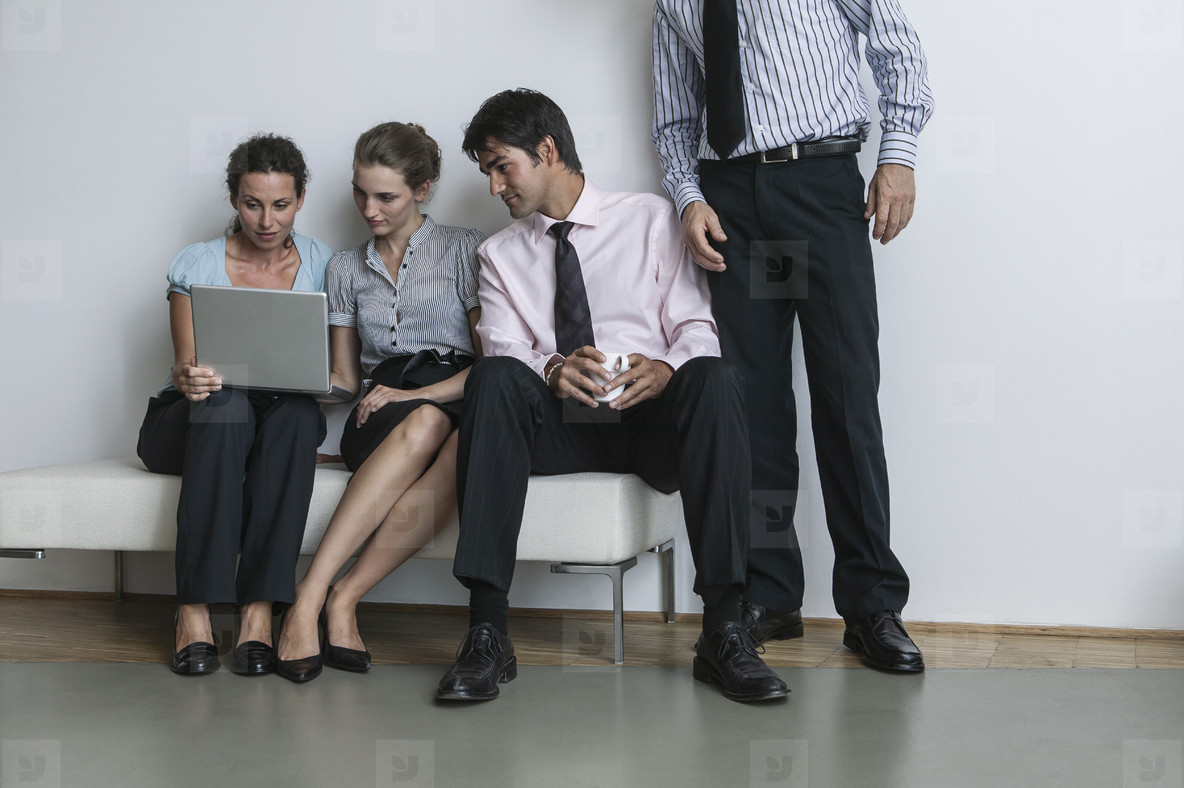 Business people meeting with laptop