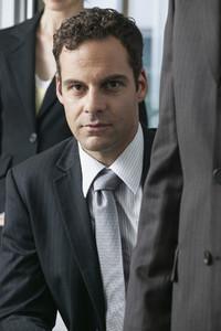Portrait confident handsome businessman in suit