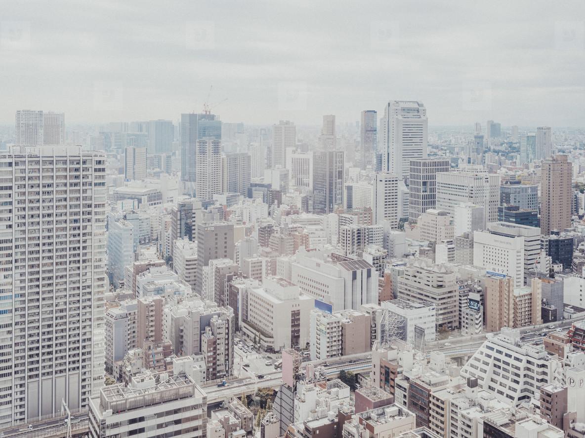 Cityscape buildings Tokyo Japan