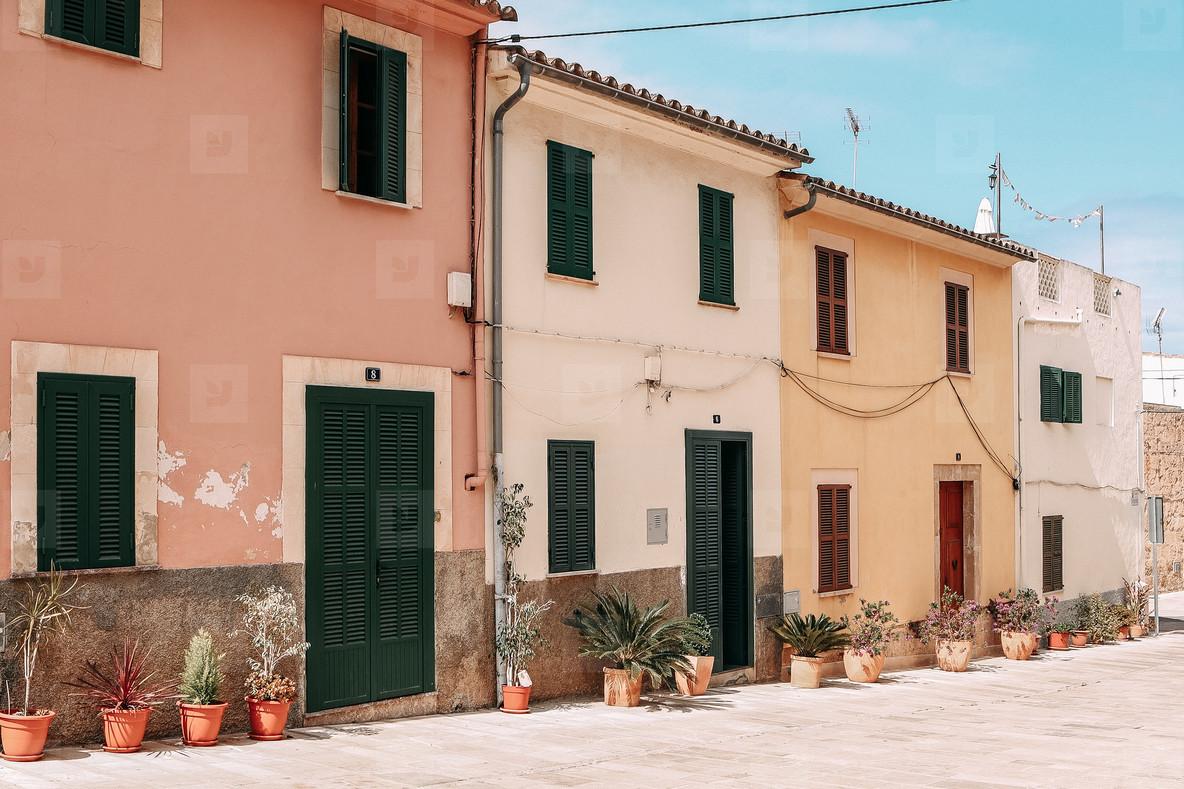 Walled city of Alcudia  Mallorca Island  Spain