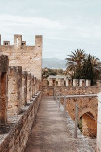 Walled city of Alcudia Mallorca Island Spain