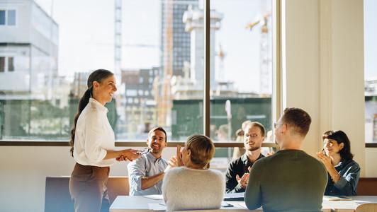 Property development team business meeting
