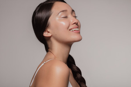 Asian woman with beautiful and healthy skin