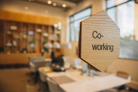 Co working office space sign board