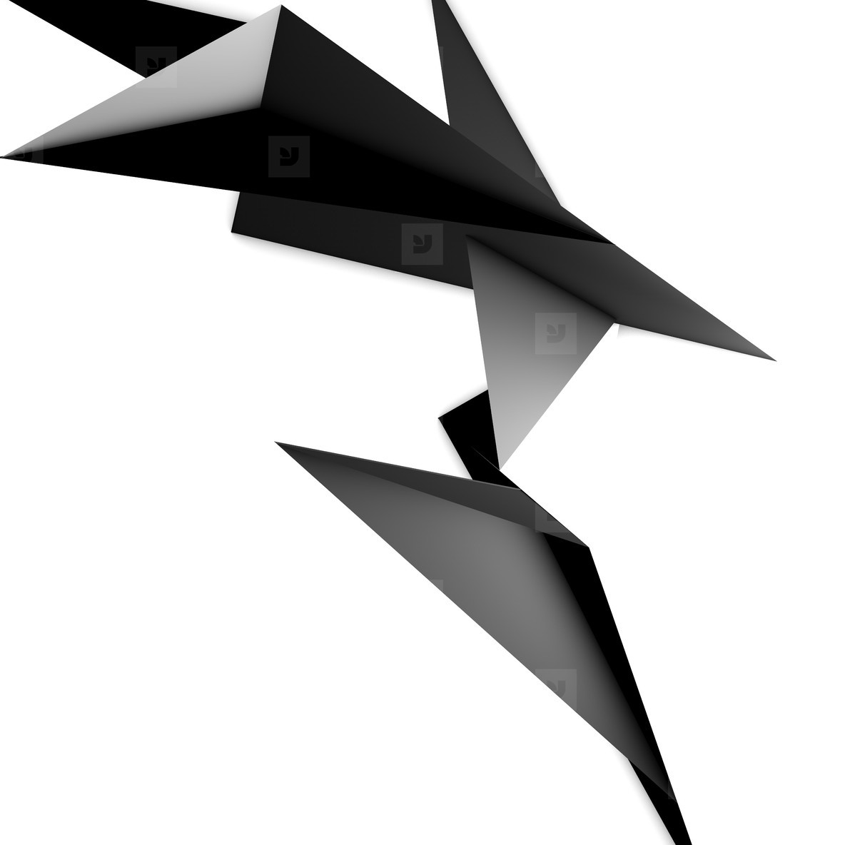 abstract origami sculpture