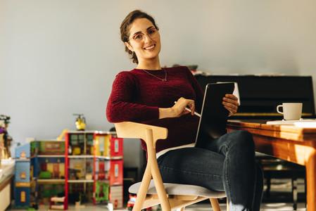 Portrait of a female designer