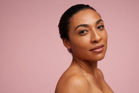 Mixed race women with beautiful skin
