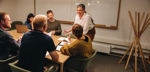 Business team having meeting on boardroom