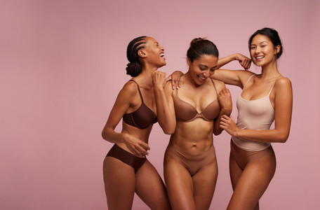 Multicultural woman being happy in their own skin