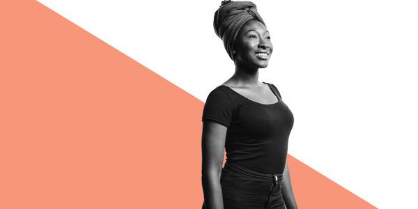 Portrait of an african woman in a headwrap