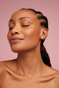 African american female with healthy skin