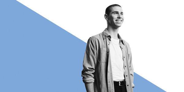 Portrait of smiling caucasian man