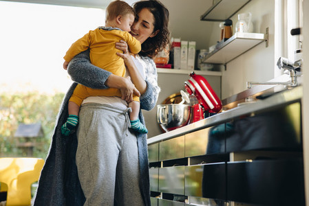 Mom and child in kitchen
