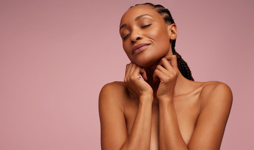 Woman with beautiful and healthy skin