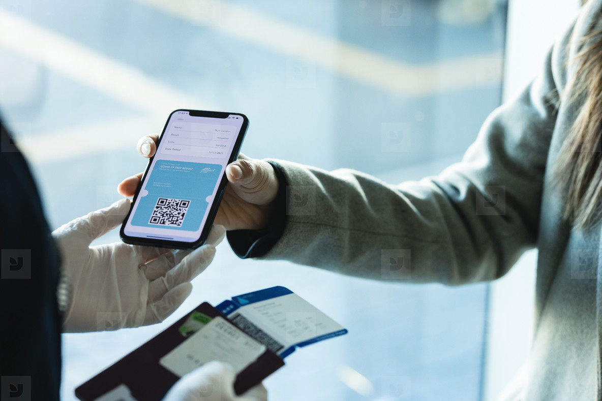 International air travel using covid 19 rapid test medical pass