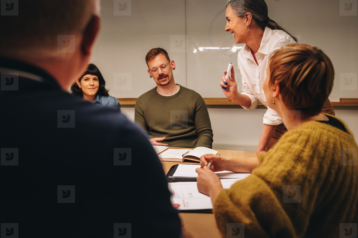 Group of a corporate professionals in boardroom meeting