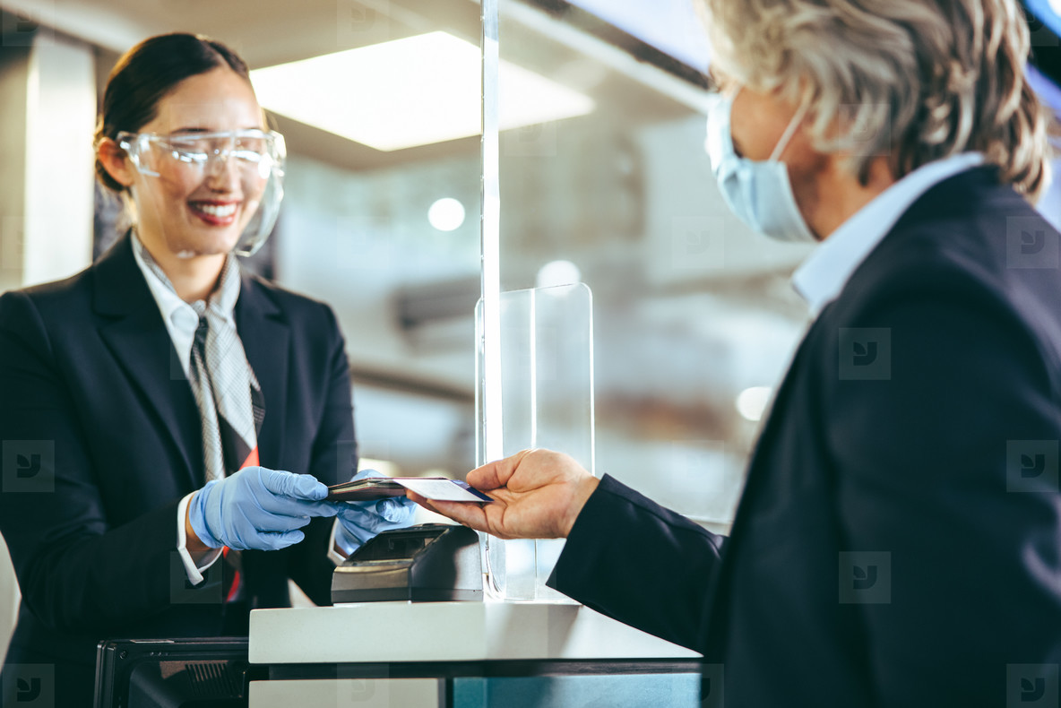 Safe checking in of travelers at airport