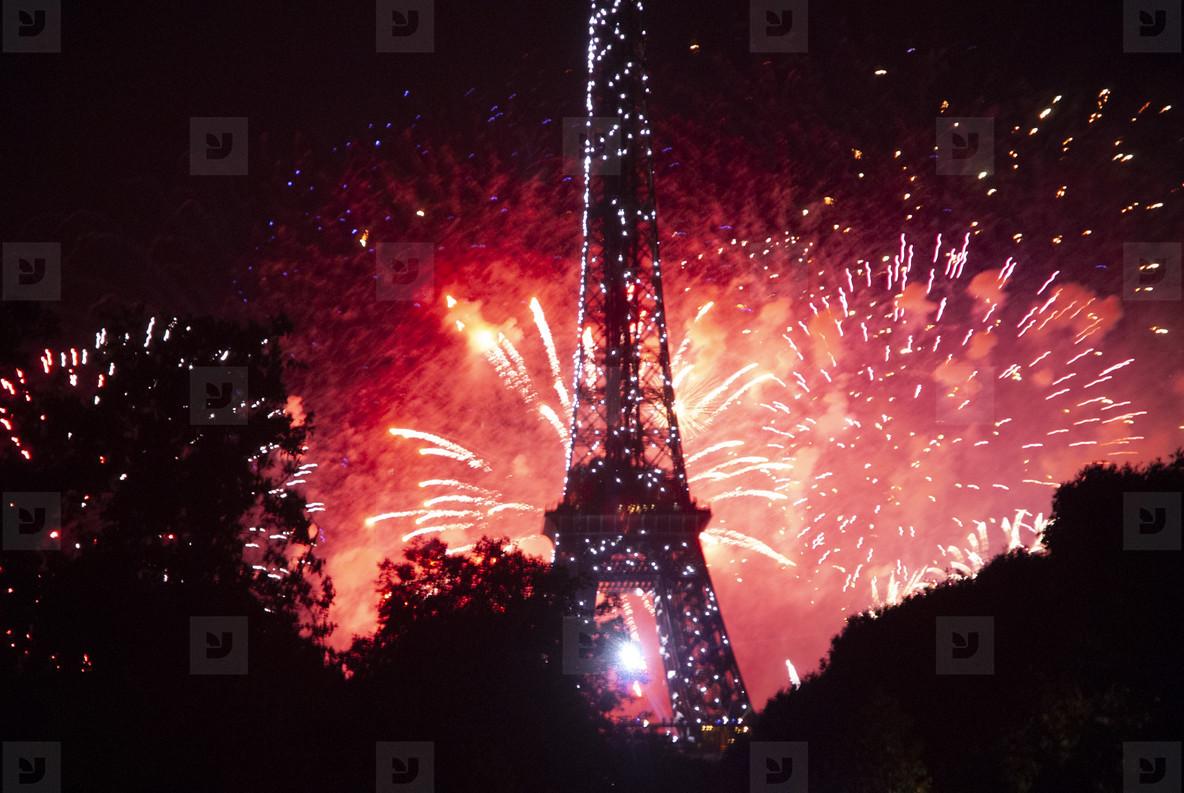 Eiffeltower Fireworks  2
