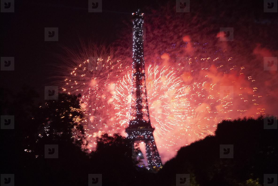 Eiffeltower Fireworks  4