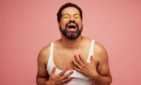 Laughing gender fluid male