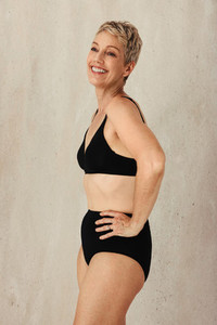 Mature woman embracing her aging body