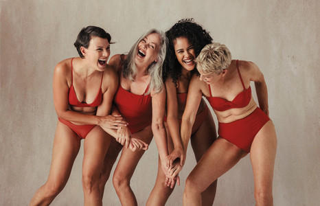 Natural women of all ages celebrating their bodies