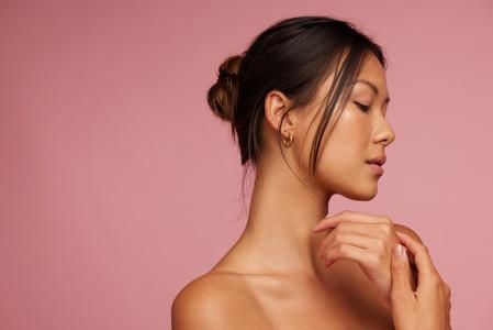 Young asian woman with beautiful skin