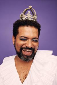 Portrait of a happy drag queen